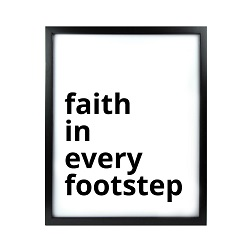 Faith in Every Footstep LDS Quote Wall Art - Modern Faith in Every Footstep LDS Quote Wall Art, lds quote wall art, lds wall art, framed lds quote