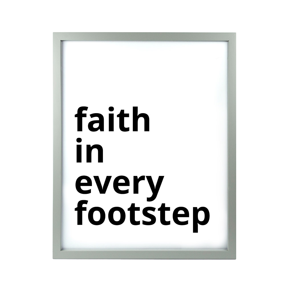 Faith in Every Footstep LDS Quote Wall Art - Modern - LDP-ART-QUOTE-FIEF