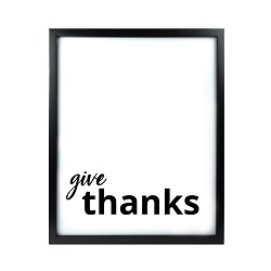 Give Thanks LDS Quote Wall Art - Modern Give Thanks  LDS Quote Wall Art, lds quote wall art, lds wall art, framed lds quote