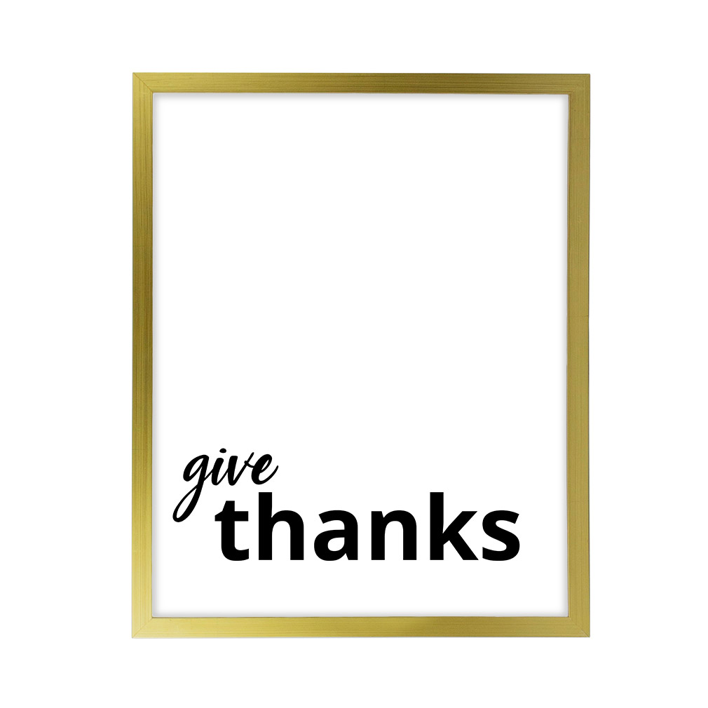 Give Thanks LDS Quote Wall Art - Modern - LDP-ART-QUOTE-GT