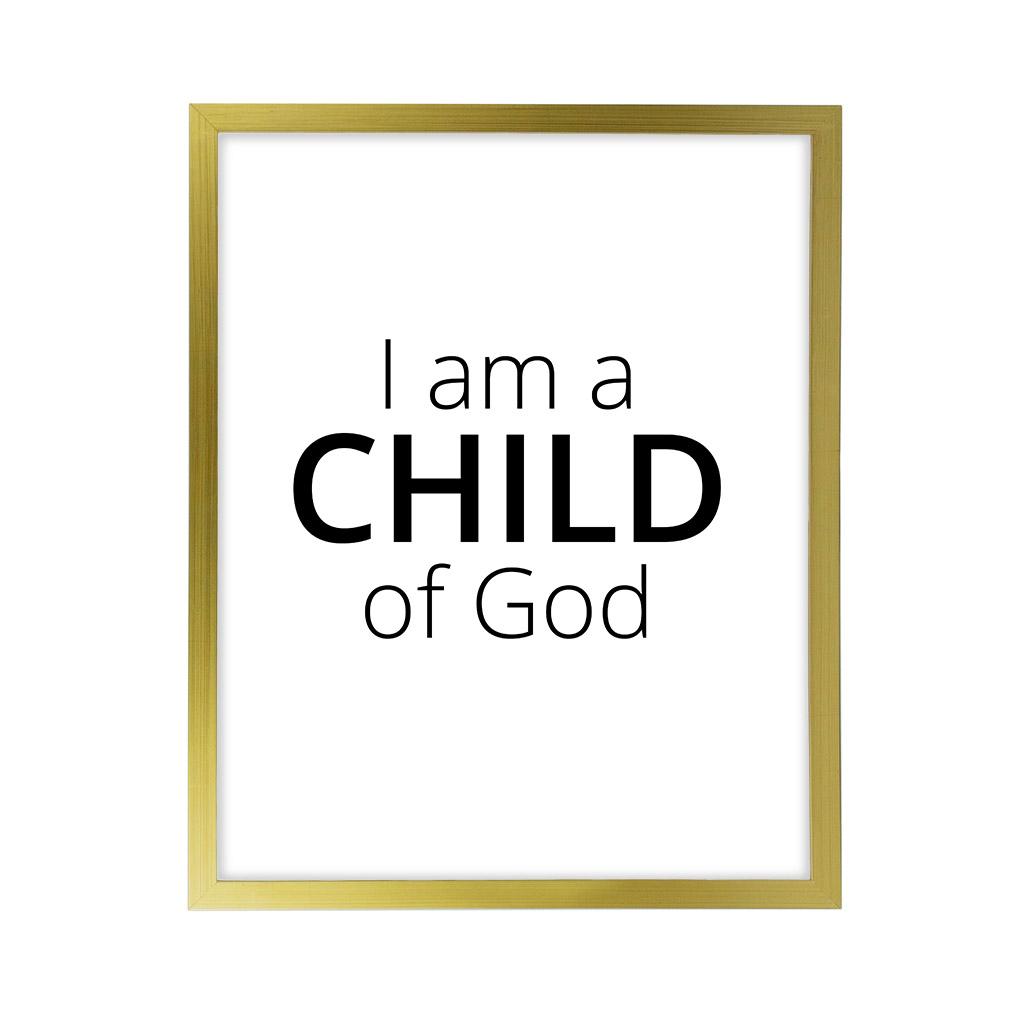 I Am A Child of God LDS Quote Wall Art - Modern - LDP-ART-QUOTE-IAACOG