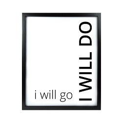 I Will Go I Will Do LDS Quote Wall Art - Modern I Will Go I Will Do LDS Quote Wall Art LDS Quote Wall Art, lds quote wall art, lds wall art, framed lds quote