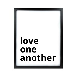 Love One Another LDS Quote Wall Art - Modern Love One Another LDS Quote Wall Art, lds quote wall art, lds wall art, framed lds quote