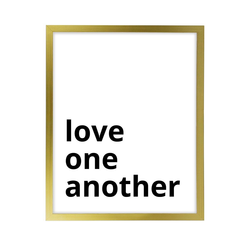 Love One Another LDS Quote Wall Art - Modern - LDP-ART-QUOTE-LOA