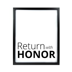 Return With Honor LDS Quote Wall Art - Modern Return With Honor LDS Quote Wall Art, lds quote wall art, lds wall art, framed lds quote