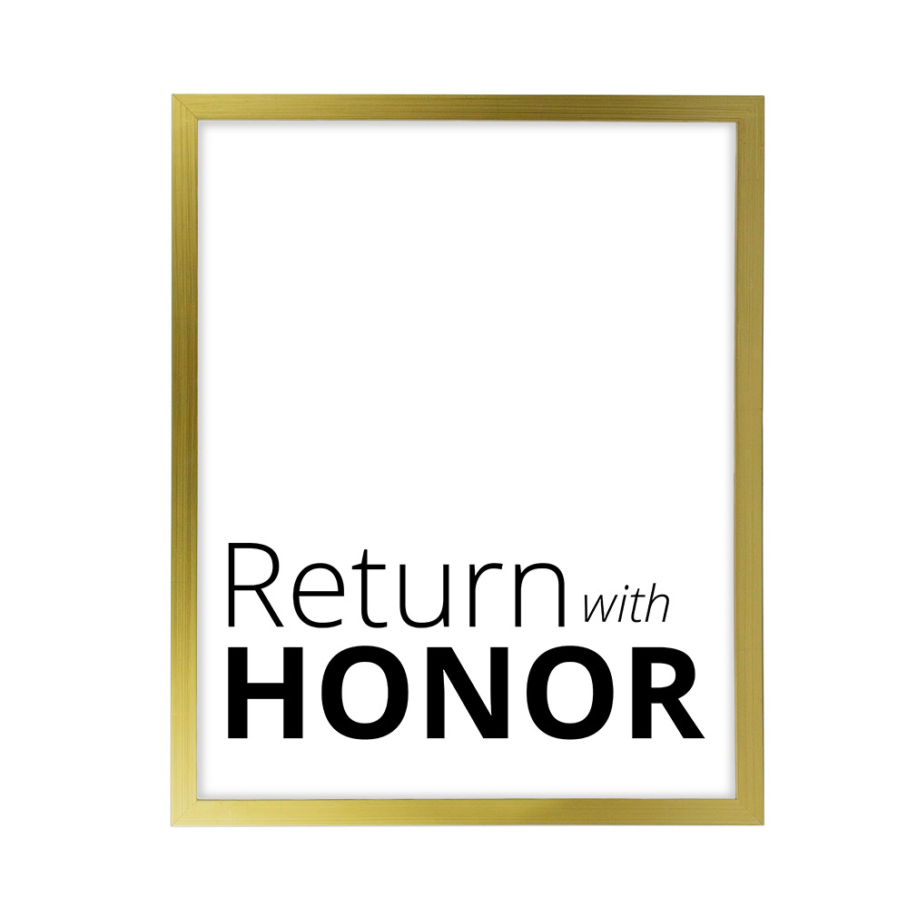Return With Honor LDS Quote Wall Art - Modern - LDP-ART-QUOTE-RWH