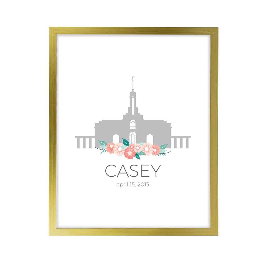 Personalized Flower Temple Print - Modern - LDP-FR-ART-FLWTEMP