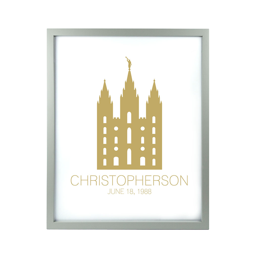 Personalized Outline Temple Print - Modern - LDP-CTEMPPOSTOUTLINE