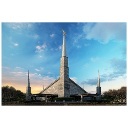 Dallas Temple - Cool Evening - LDP-ART-DALLAS-COOL-EVENING