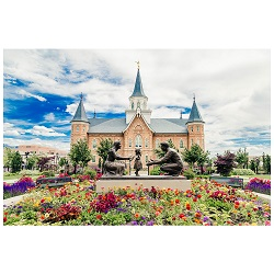Provo City Center Temple - Summer Bouquet framed provo city center temple, provo city center temple art, provo city center temple framed art, Framed Provo City Center Temple Art