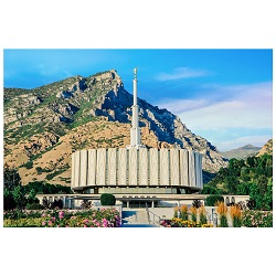 Provo Temple - Blue Day