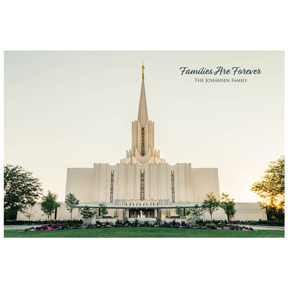 Jordan River Temple - Golden Light - LDP-ART-JRDRIV-GOLDEN-LIGHT