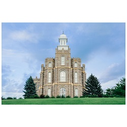Logan Temple - Blue Sky Framed Logan Temple Art, Logan Temple Photography, lds temple photography, fine art lds temples, lds temple art, framed lds temples, logan temple photos, logan temple photography