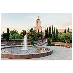 Newport Beach Temple - Fountain - LDP-ART-NPBEACH-FOUNTAIN