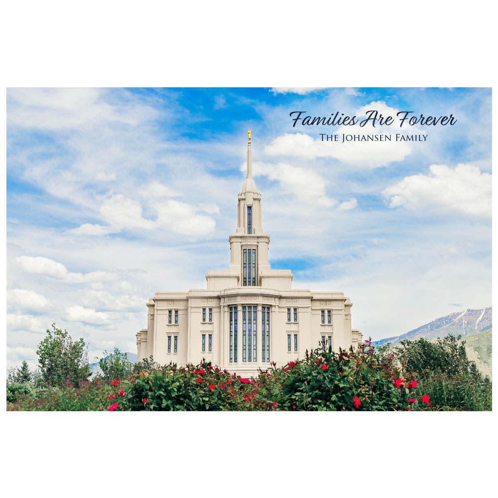 Payson Temple - Red Blossoms - LDP-ART-PAY-RED-BLOSSOMS