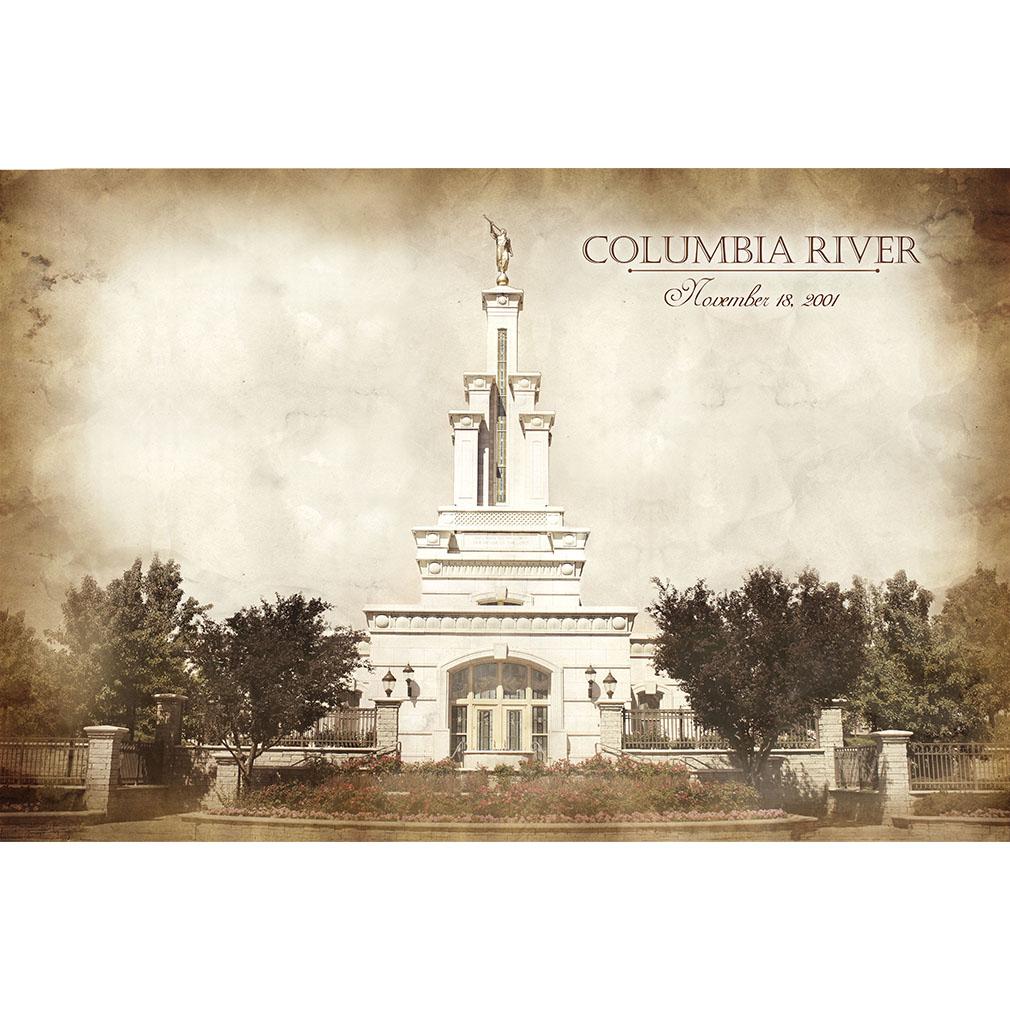 Columbia River Temple - Vintage - LDP-VTA-COLRIV