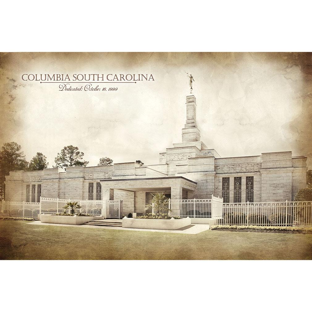Columbia South Carolina Temple - Vintage  - LDP-VTA-COLSC