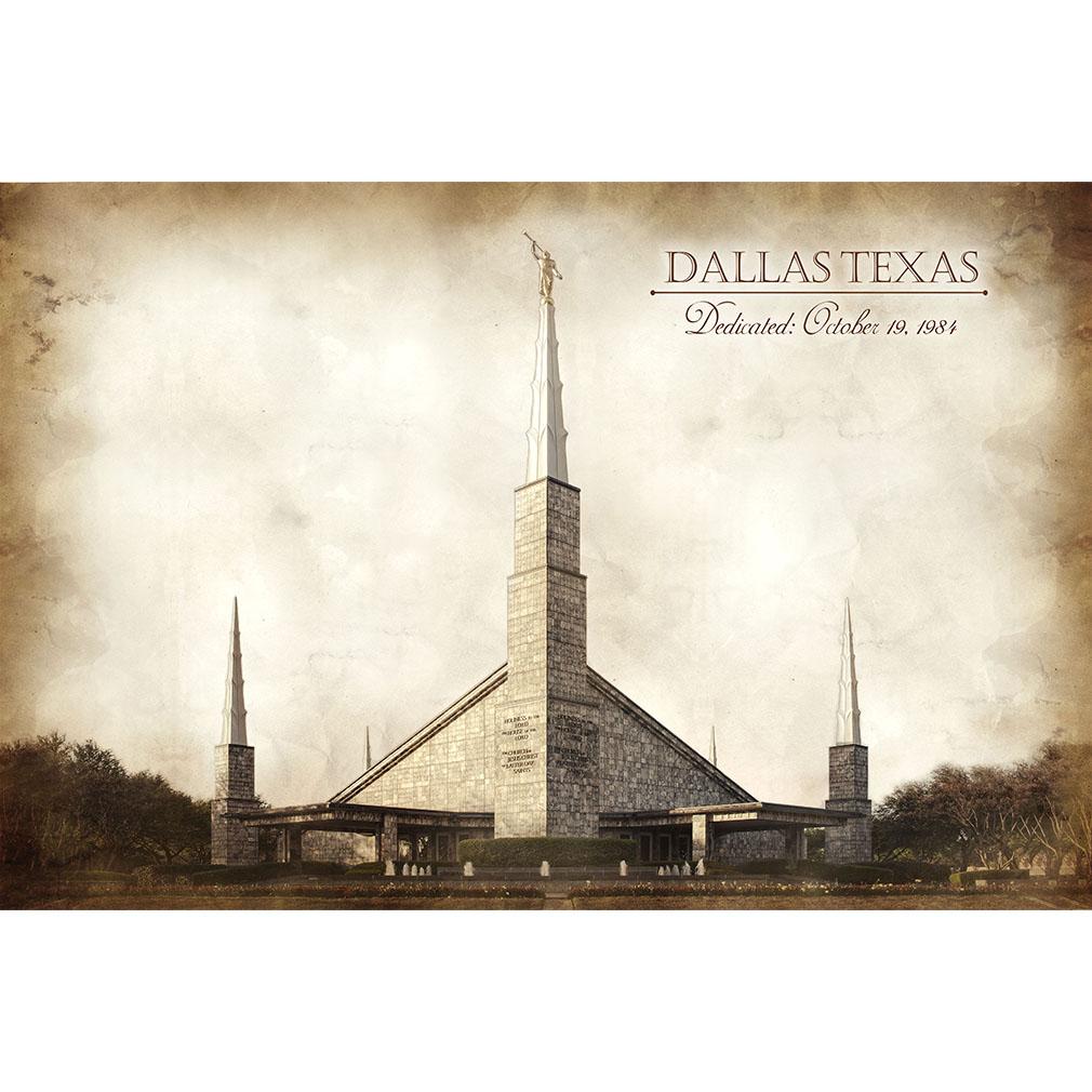 Dallas Temple - Vintage - LDP-VTA-DALL