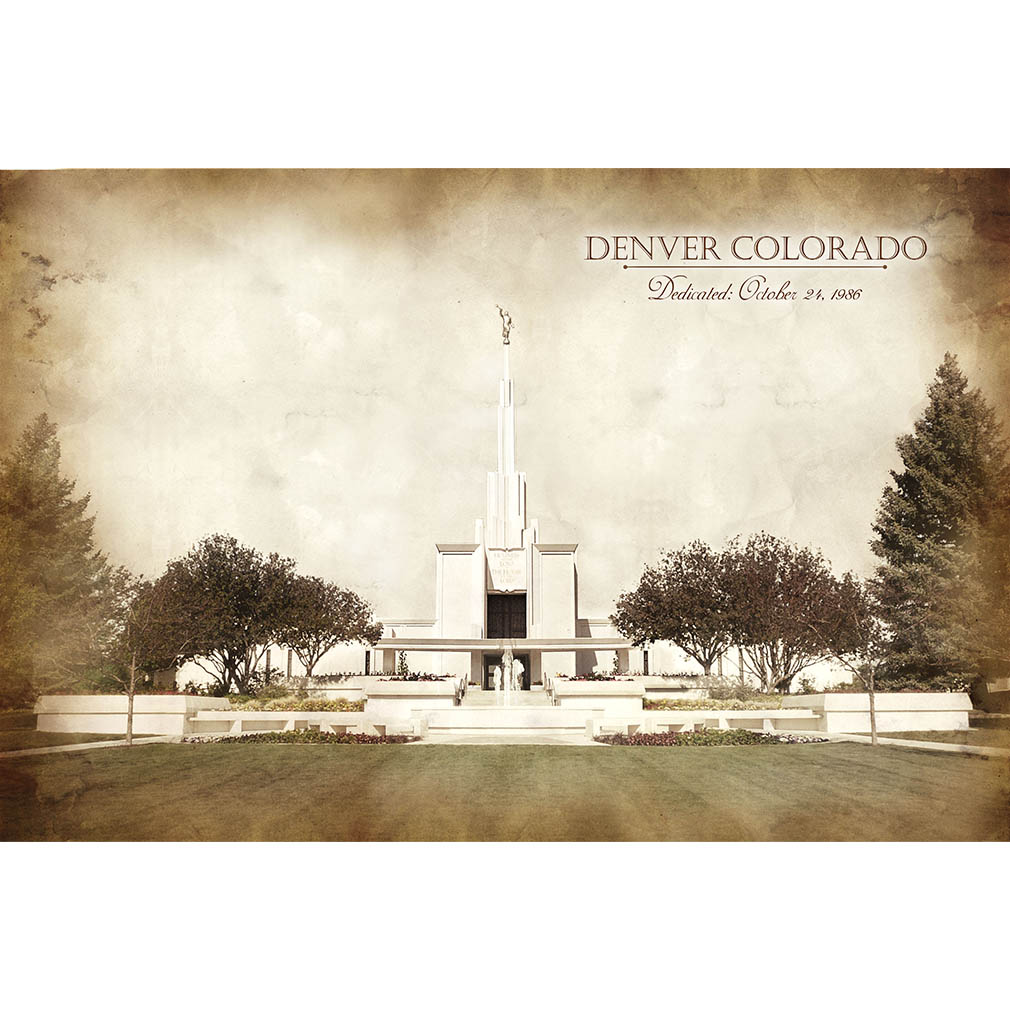 Denver Temple - Vintage - LDP-VTA-DEN