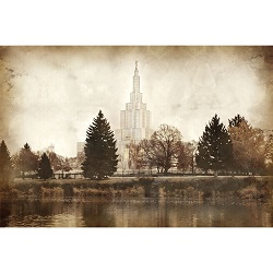 Idaho Falls Temple - Vintage