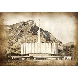 Provo Temple - Vintage