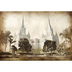 San Diego Temple - Vintage
