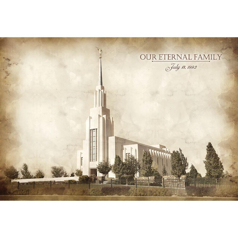 Twin Falls Temple - Vintage - LDP-VTA-TWFALL