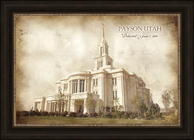 Payson Temple - Vintage - LPD-VTA-PAY