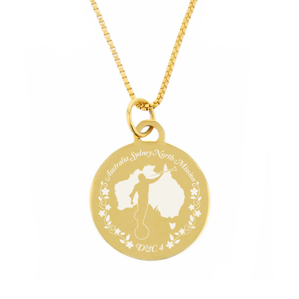 Australia Mission Necklace - Silver/Gold - LDP-CPN1010