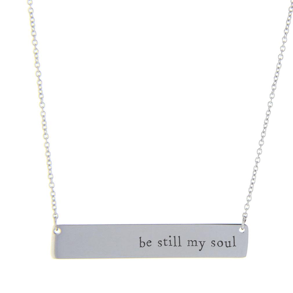 Be Still My Soul Bar Necklace - LDP-HBN10275