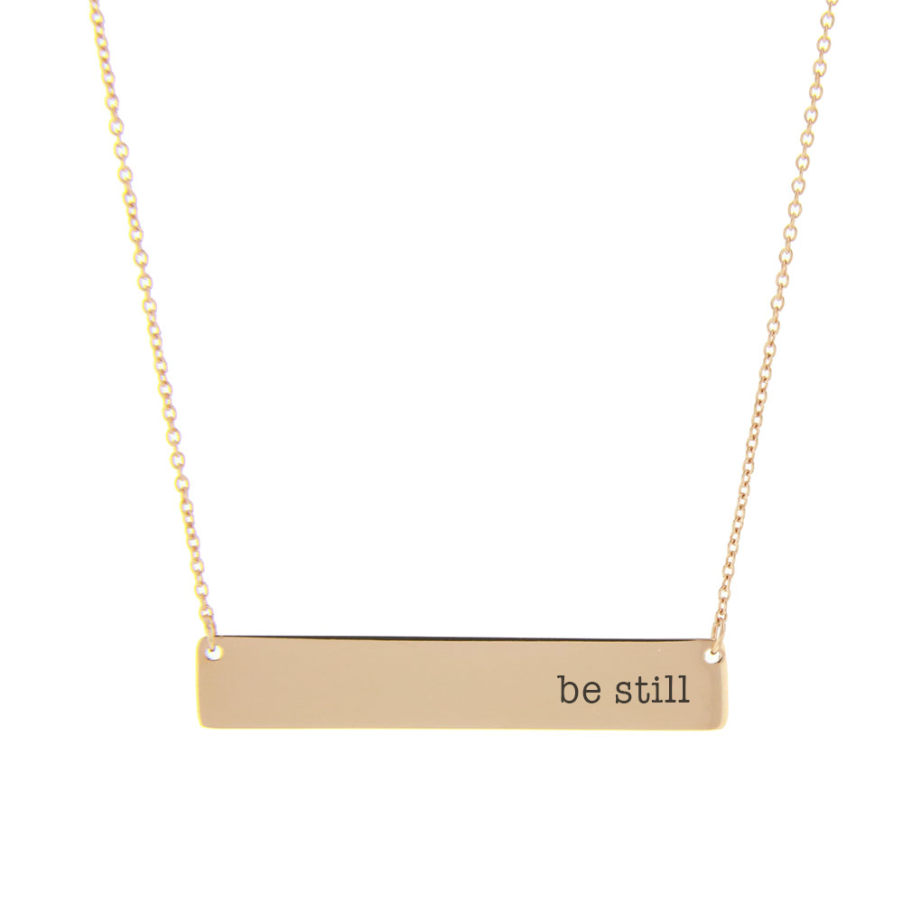 Be Still Bar Necklace - LDP-HBN10254