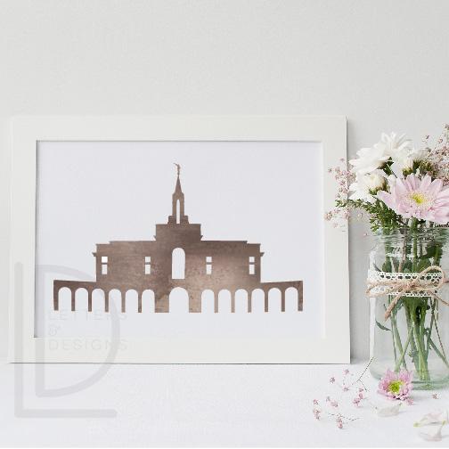 image regarding Watercolor Printable titled Bountiful Temple Watercolor Wall Artwork - Sepia Printable