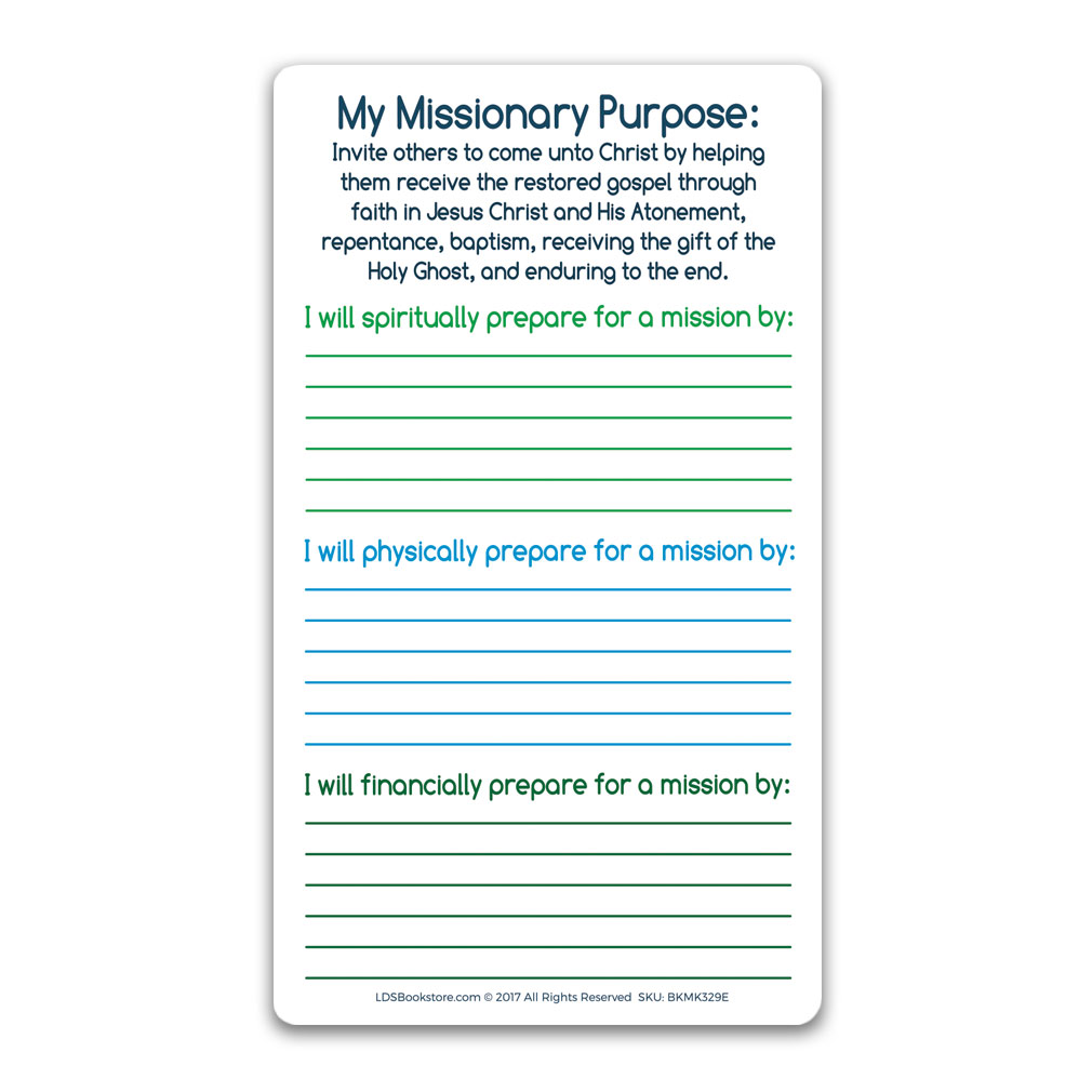 I Hope They Call Me on a Mission Bookmark - Elders - LDP-BKMK329E