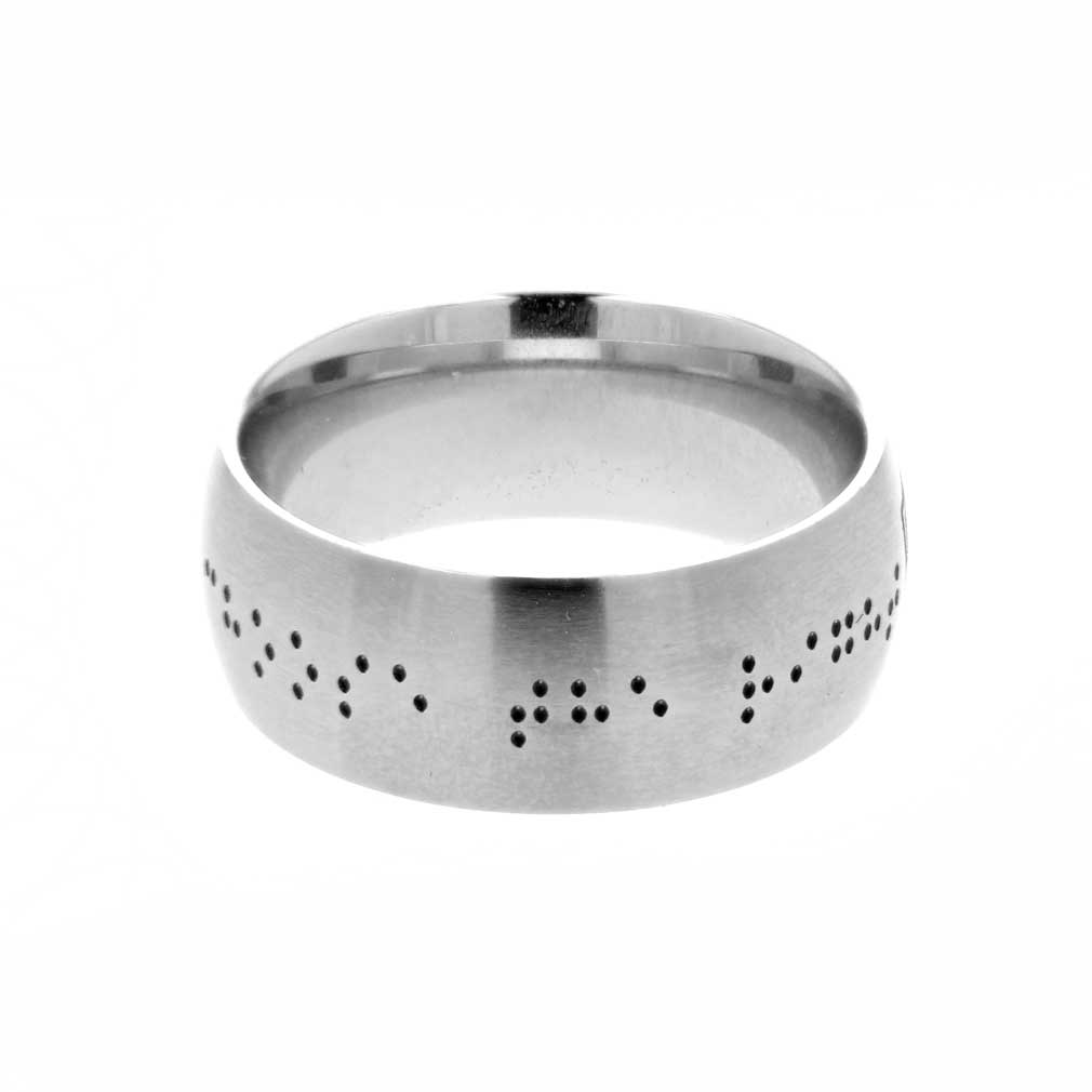 Braille Choose the Right Ring - Wide - LDP-RNGB15110