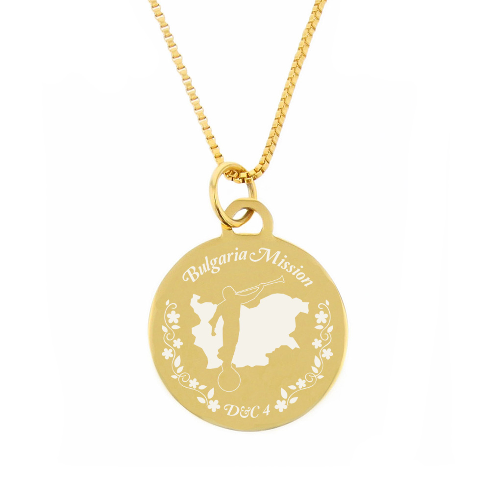 Bulgaria Mission Necklace - Silver/Gold - LDP-CPN92