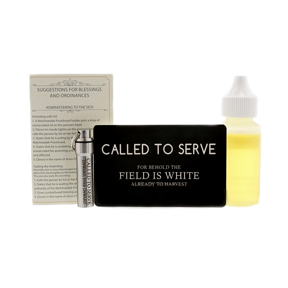 Elder Missionary Gift Pack lds oil vial, modern oil vial, matte oil vial, priesthood kit, priesthood package. lds men gift ideas, missionary gift idea, missionary gift, missionary package idea