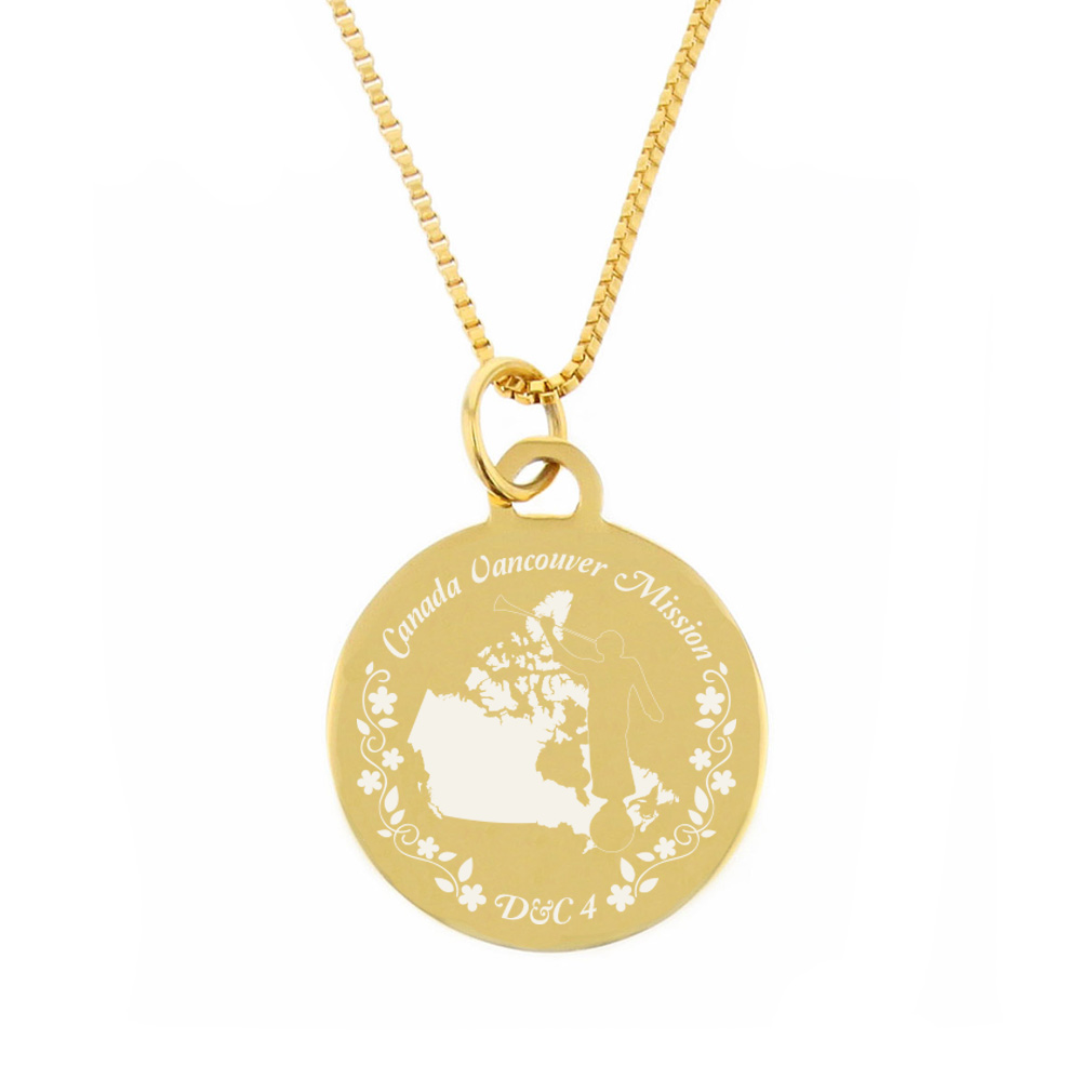 Canada Mission Necklace - Silver/Gold - LDP-CPN13