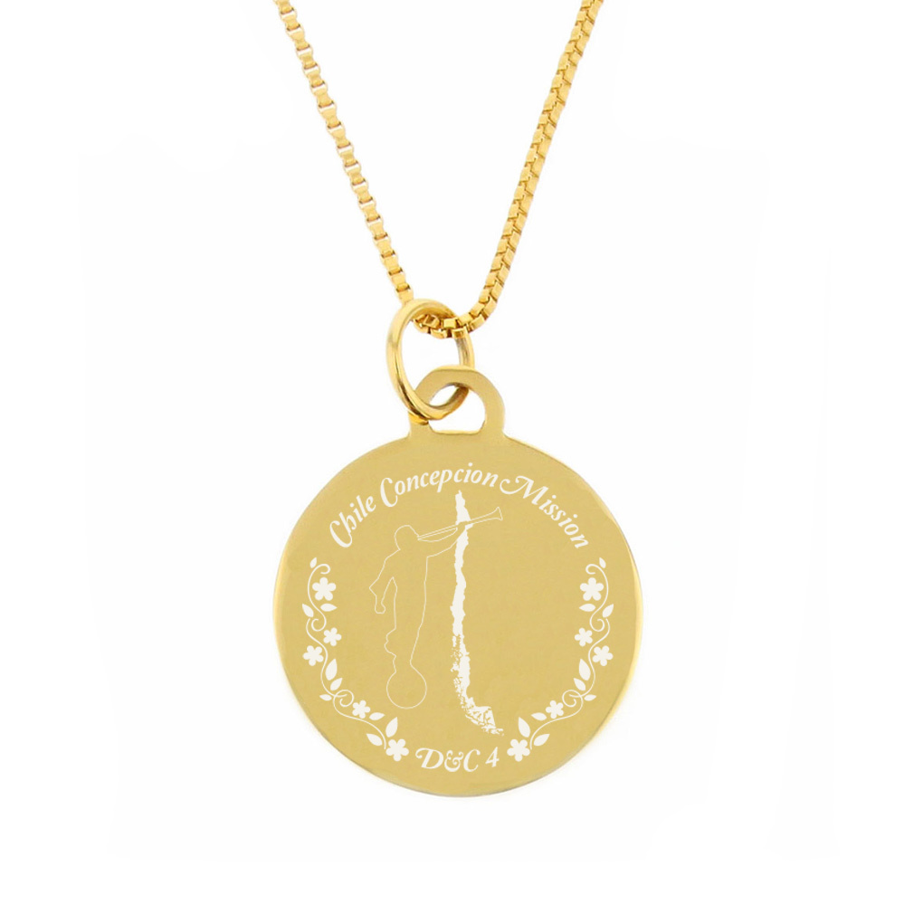 Chile Mission Necklace - Silver/Gold - LDP-CPN14