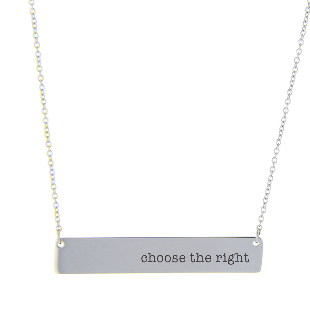 Choose the Right Bar Necklace - LDP-HBN10119-GLD