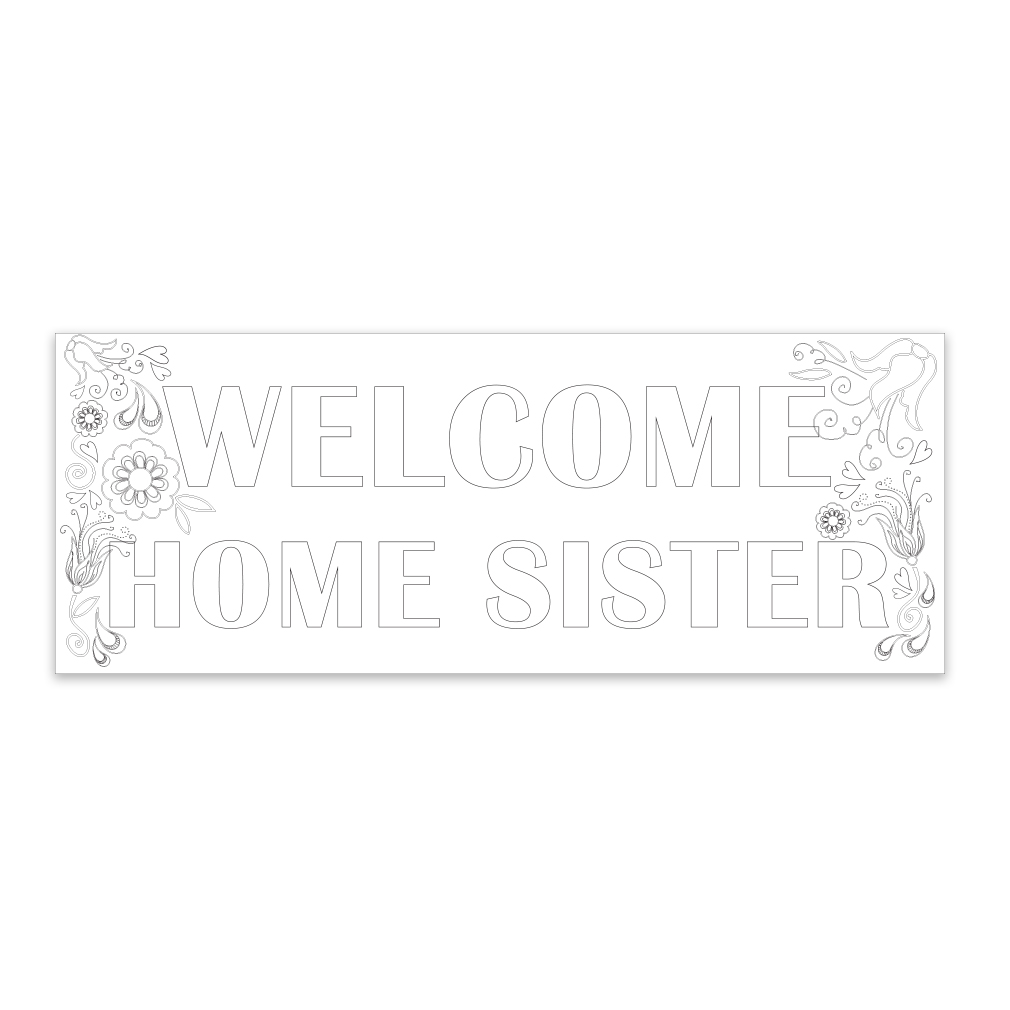 Coloring Missionary Banner - Sister - LDP-CMSPST223