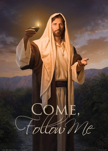 Come Follow Me Poster featuring Lead, Kindly Light in LDS