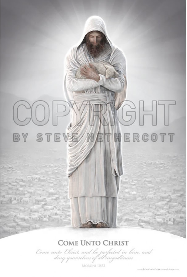 come unto christ poster in real hero posters ldsbookstore com x