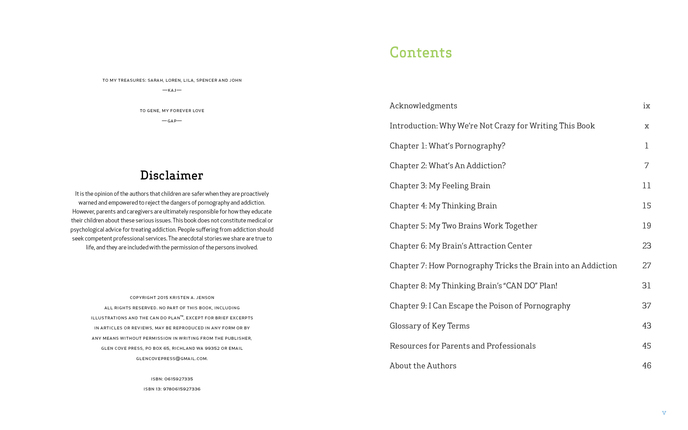 chapter content and the disclaimer for the lds book