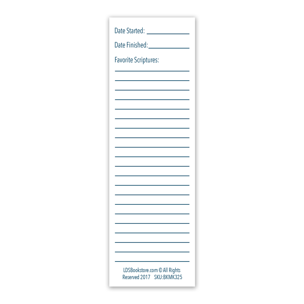 D&C Reading Chart Bookmark - Small  - LDP-BKMK325