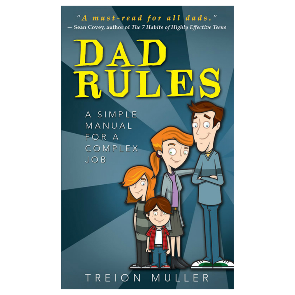 Illustrated Book Cover Job ~ Dad rules a simple manual for complex job in parenting