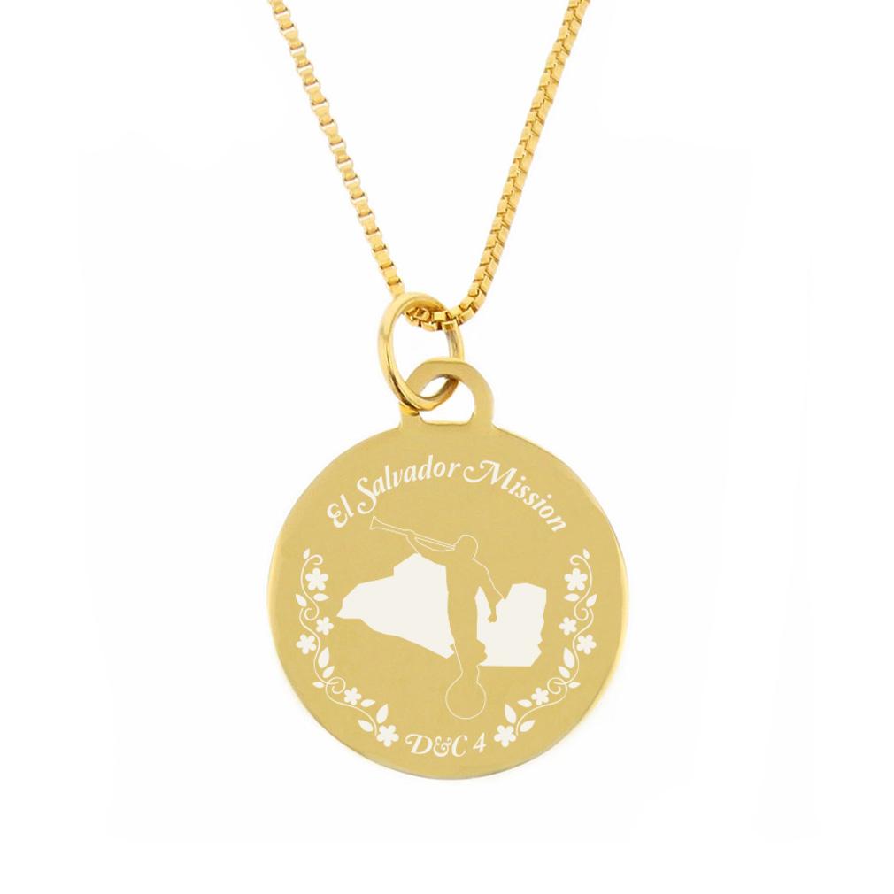 El Salvador Mission Necklace - Silver/Gold - LDP-CPN165
