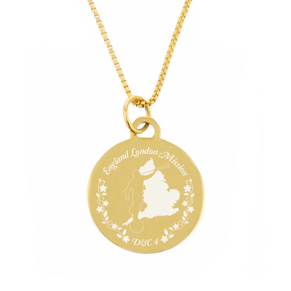 England Mission Necklace - Silver/Gold - LDP-CPN16
