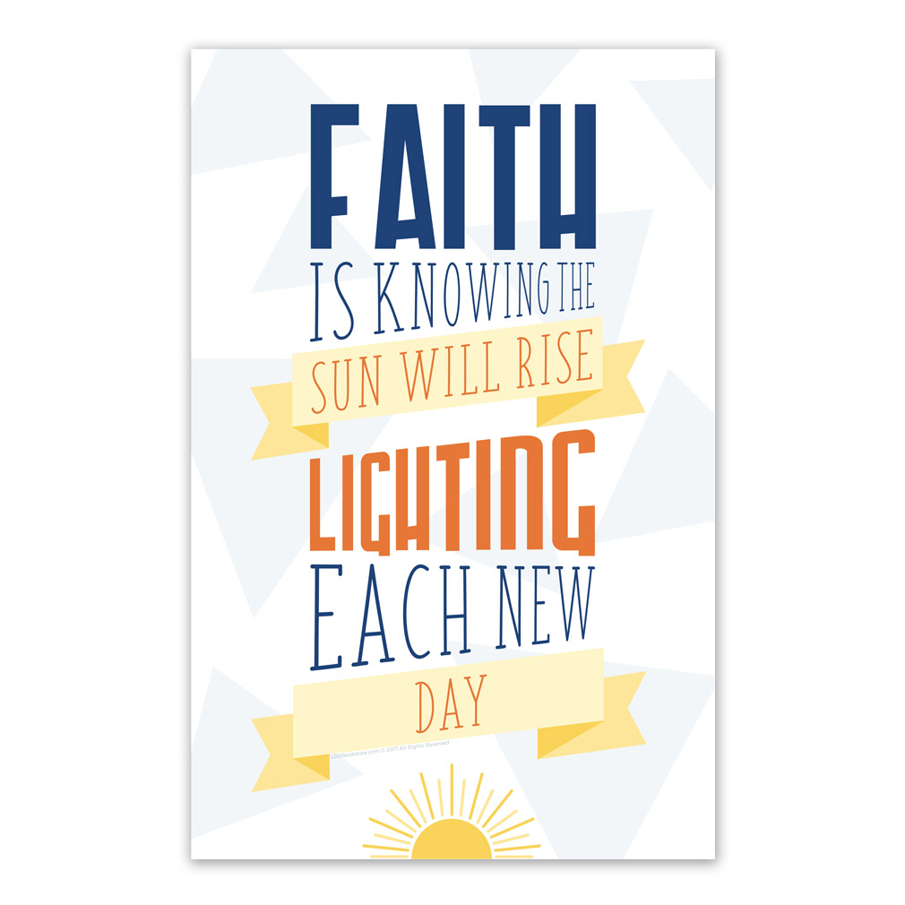 picture relating to Printable Posters referred to as Religion is Being familiar with the Sunlight Will Increase Poster - Printable
