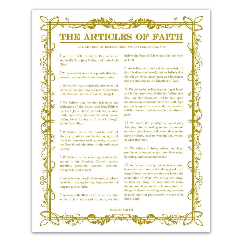 Filled Leaf Articles of Faith - LDP-AF281