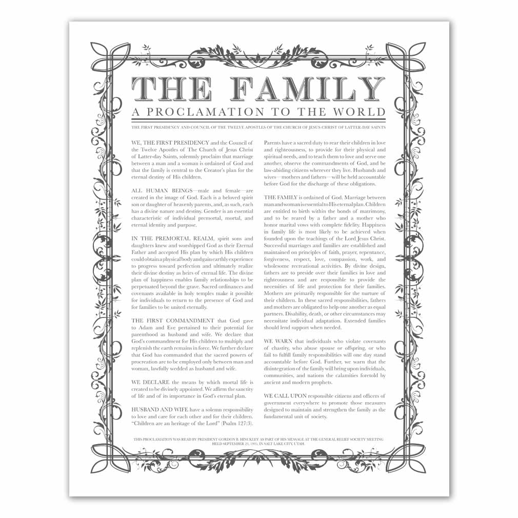 Filled Leaf Family Proclamation - LDP-FP281
